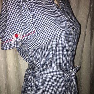 Old Navy Dresses - Blue Checkered Dress
